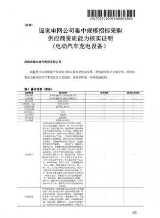 国家电网供应商能力证明文件