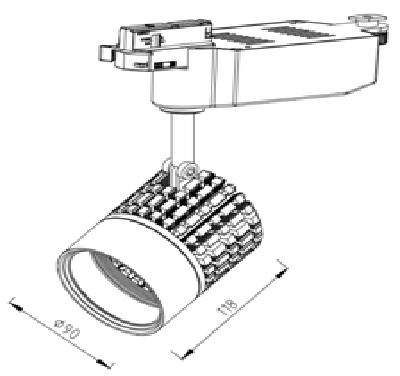 贵阳LED轨道灯系列-HG-L50103